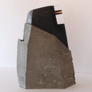 basalt crystal glass sculpture by Gérard Fournier