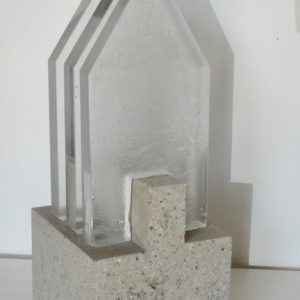 glass sculpture by Christian von Sydow available for sale in the store of gallery22