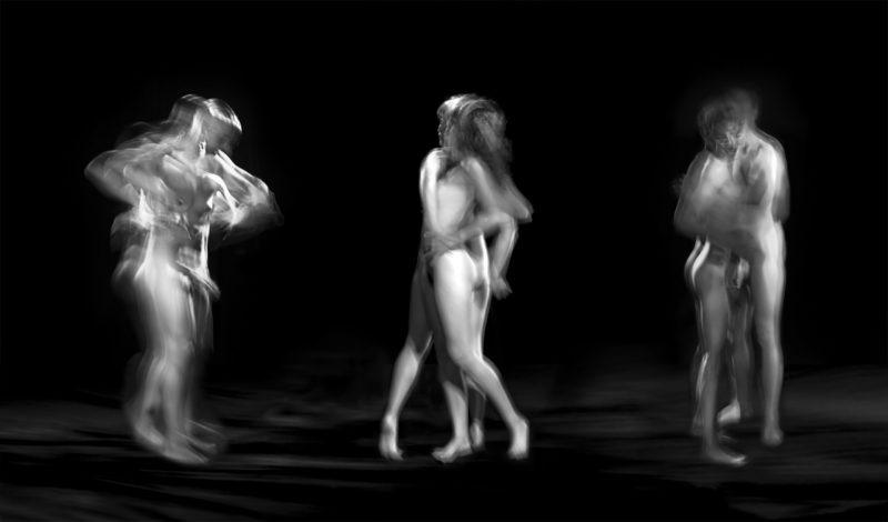 photographie en noir et blanc de couple nu du photographe alain schwarzstein en vente dans le store de la galerie22