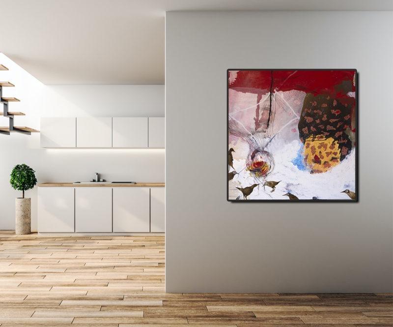 peinture acrylique sur toile d'enrique mestre jaime en vente dans le store de la galerie22