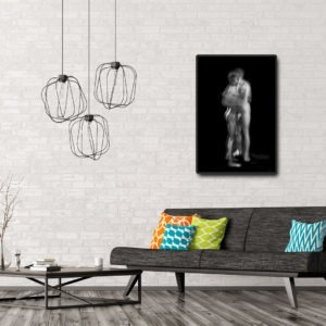 black and white photograph of naked couple by photographer alain schwarzstein on sale in the store of the gallery22