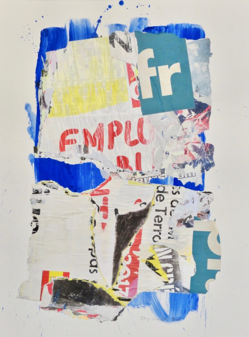collage on paper by danielle prijikorski painter from gallery22