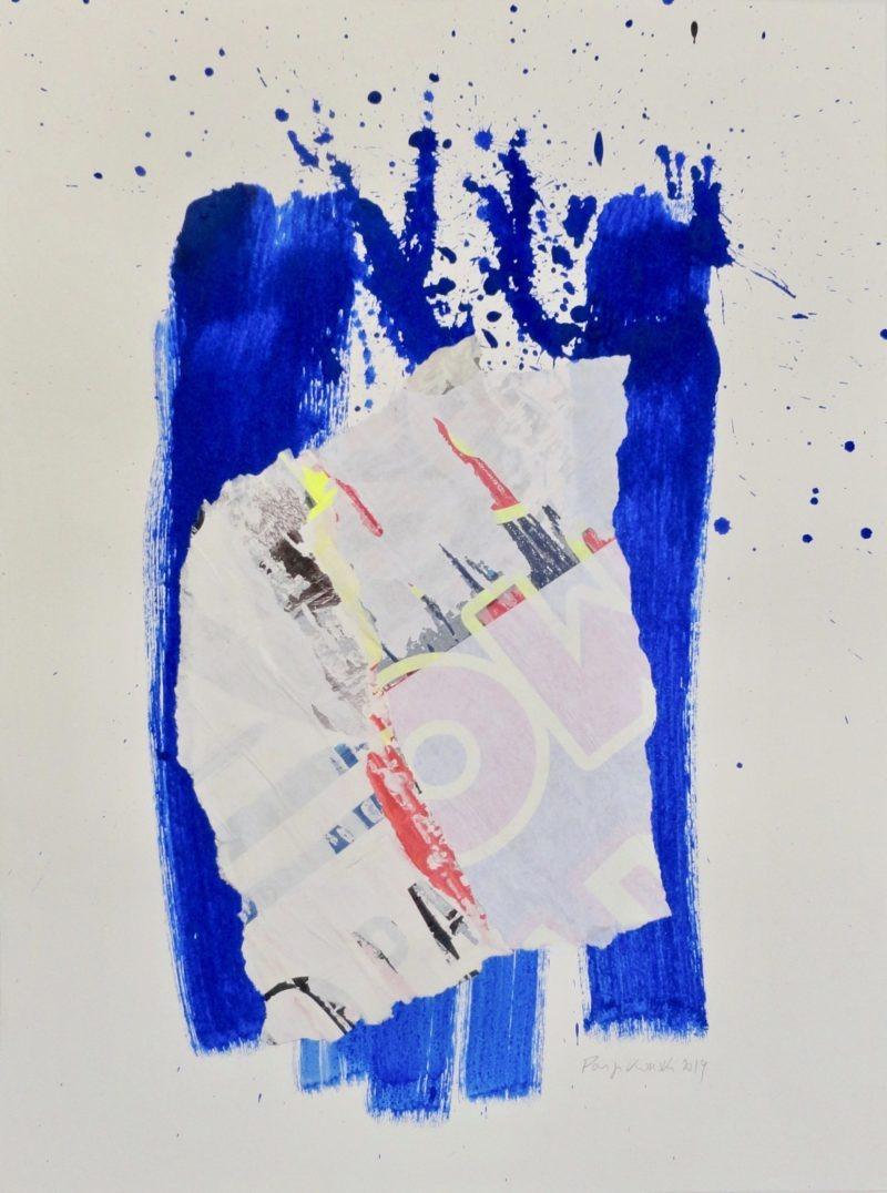 collage sur papier de danielle prijikorski artiste peintre de la galerie22