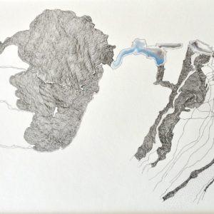 aquarelle et encre de chine sur papier de Christiane Filliatreau en vente à la boutique Galerie 22