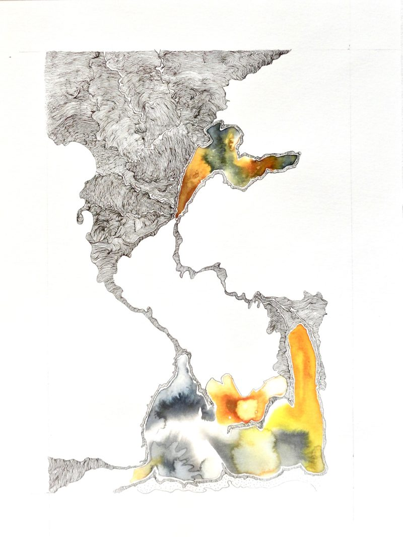 watercolour and ink drawing by Christiane Filliatreau for sale in the store gallery 22