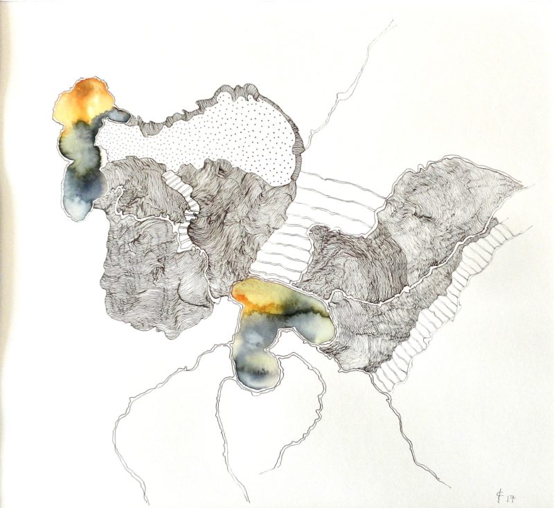contemporary drawing by Christiane Filliatreau for sale in the shop of the Galerie22