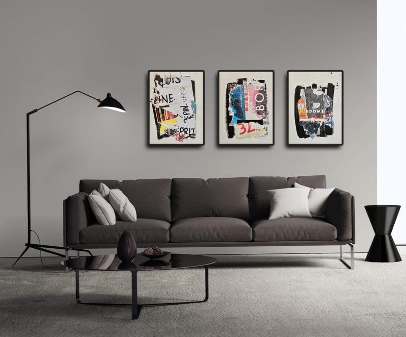 collage sur papier de danielle prijikorski en vente dans le store de la galerie22