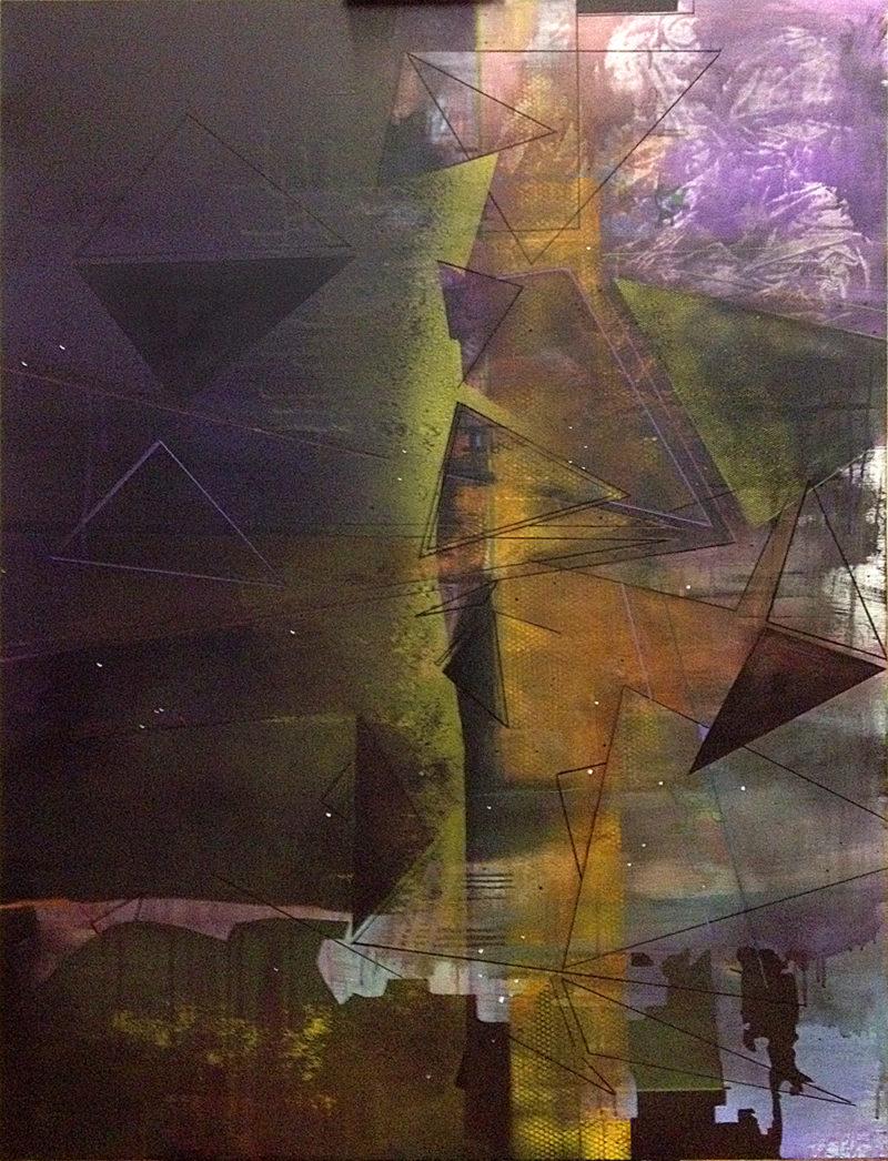 oeuvre abstraite contemporaine de Frédérick Gagné en vente dans la boutique de la galerie 22