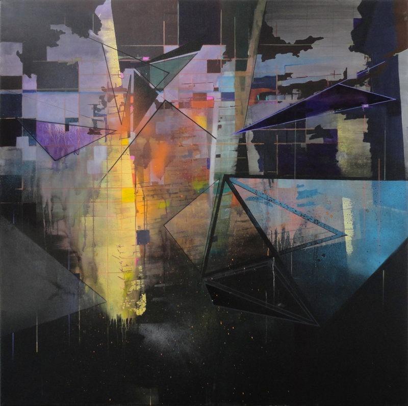peinture acrylique abstraire contemporaine de Frédérick Gagné à vendre sur le store Galerie22