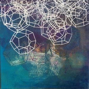 peinture abstraite sérigraphie sur toile Frédérick Gagné en vente dans le store de la galerie22