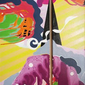 peinture acrylique de thoma ryse artiste peintre de la galerie22