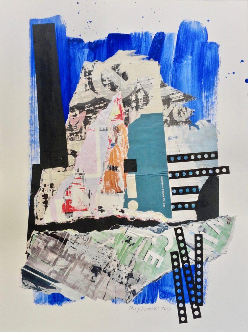 collage et technique mixte série POP de Danielle Prijikorski en vente dans le store galerie22 art contemporain
