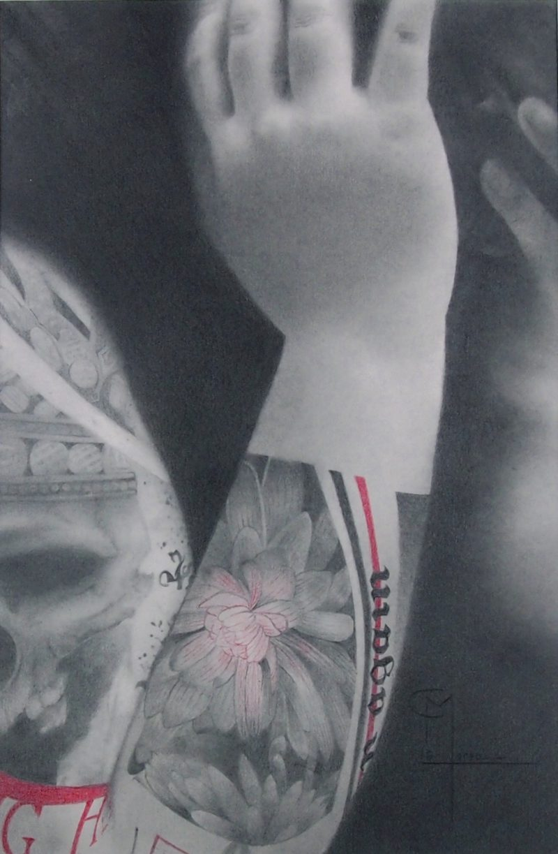 contemporary pencil drawing by Christophe Moreau available in the shop of Galerie 22