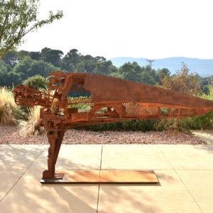 sculpture métal de Julien Allègre pour le jardin extérieur à acheter dans la boutique de la galerie 22 contemporain