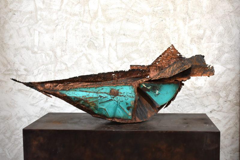 sculpture métal en bascule de julien Allègre