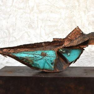 metal sculpture in rocker of Julien Allègre