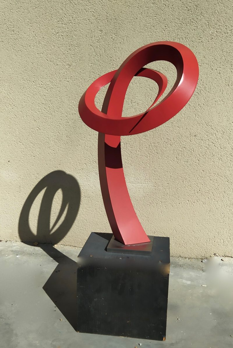 metal and painted aluminium sculpture by Francis Guerrier on sale in the online shop of the gallery 22 contemporain
