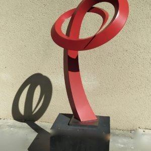 sculpture métal et aluminium peint de Francis Guerrier en vente dans la boutique en ligne de la galerie 22 contemporain
