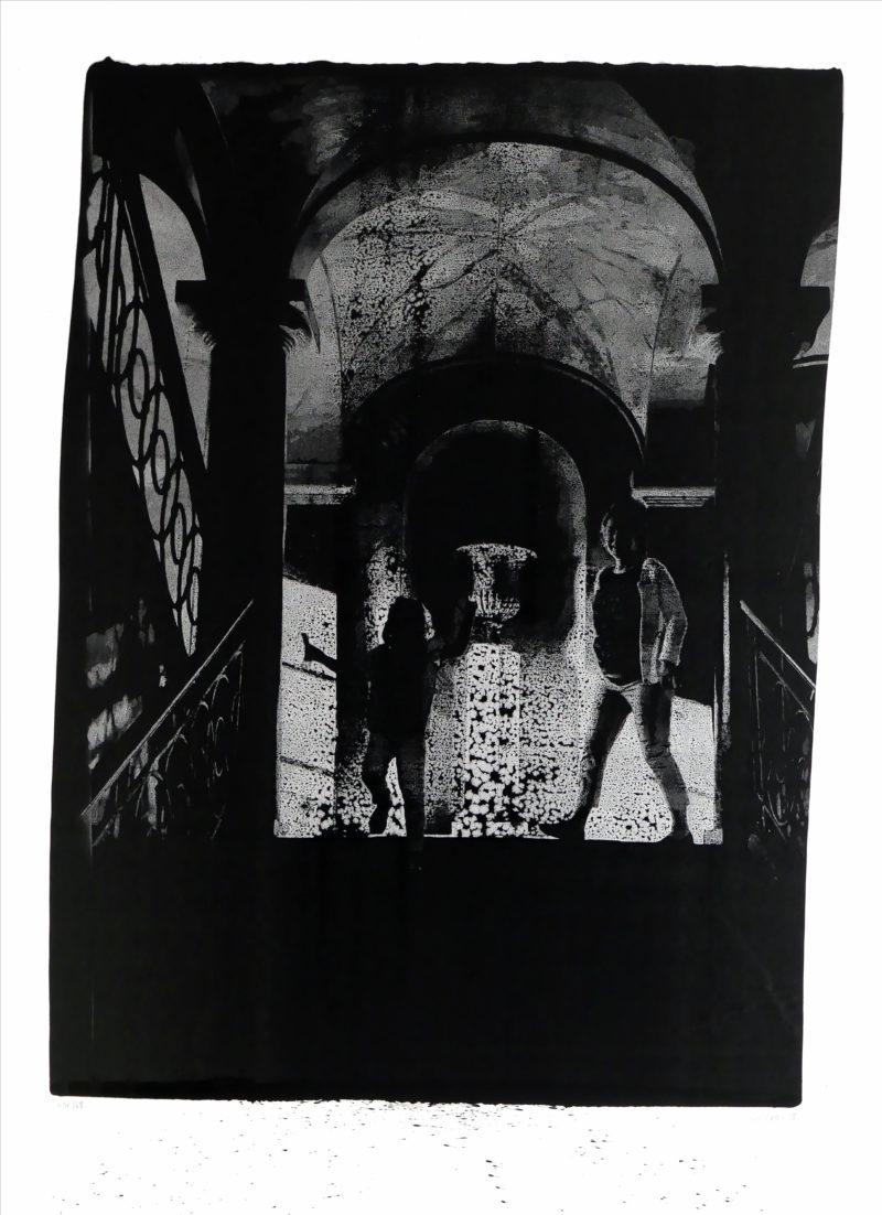 gravure technique unique d'encre de chine sur papier en grand format de Thomas de Vuillefroy en vente dans le store de la galerie 22 contemporain