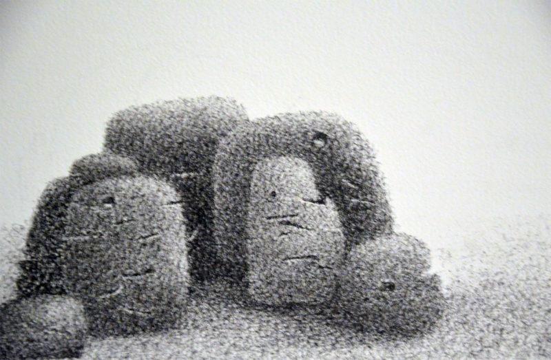 dessin encre sur papier de Pierre Ribà en vente dans la boutique en ligne de la galerie 22
