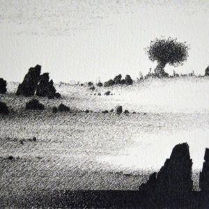 dessin à l'encre pigmentée sur papier Arches de Pierre Ribà en vente dans le store de la Galerie22 contemporain