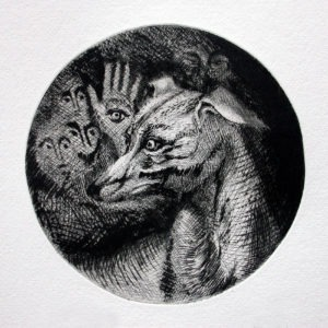 engraving, etching, drypoint, aquatint on paper by Monique Flosi for sale in the online shop of the gallery 22 contemporain