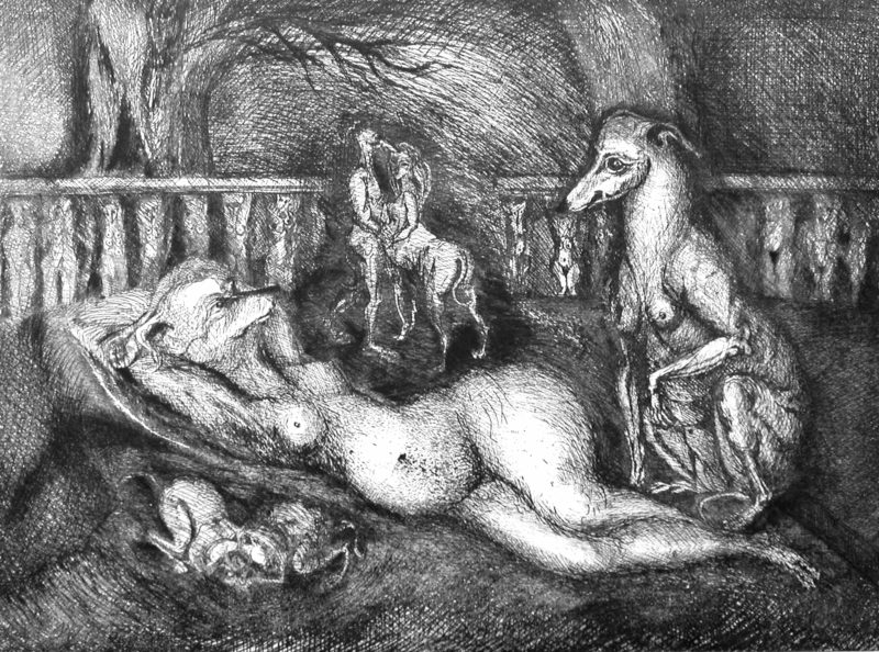 etching, drypoint, aquatint by Monique Flosi on sale in the online shop of the gallery 22 contemporain