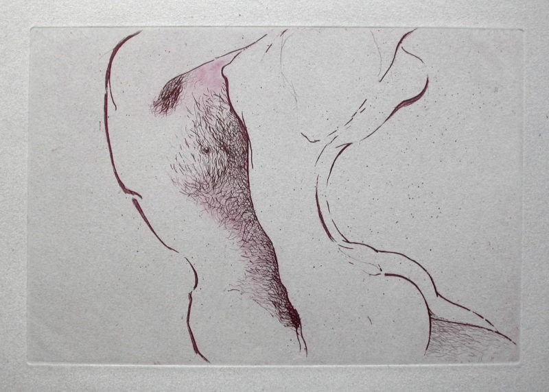 etching on paper by Monique Flosi to buy in the store of the gallery 22 contemporain