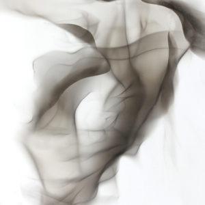 oeuvre sur papier d etienne gros artiste peintre et dessinateur c'est une technique unique avec la flamme de lampe à huile laissant des formes sur le papier