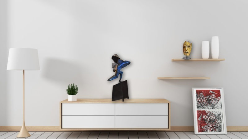 sculpture bronze de julien allegre disponible dans le store de la galerie 22