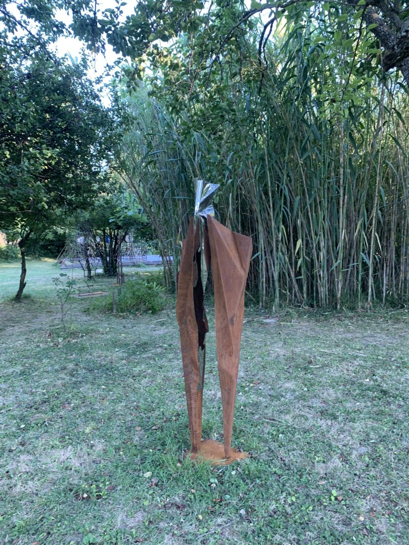 metal and stainless steel sculpture for garden by julien allegre available for sale in the official shop.