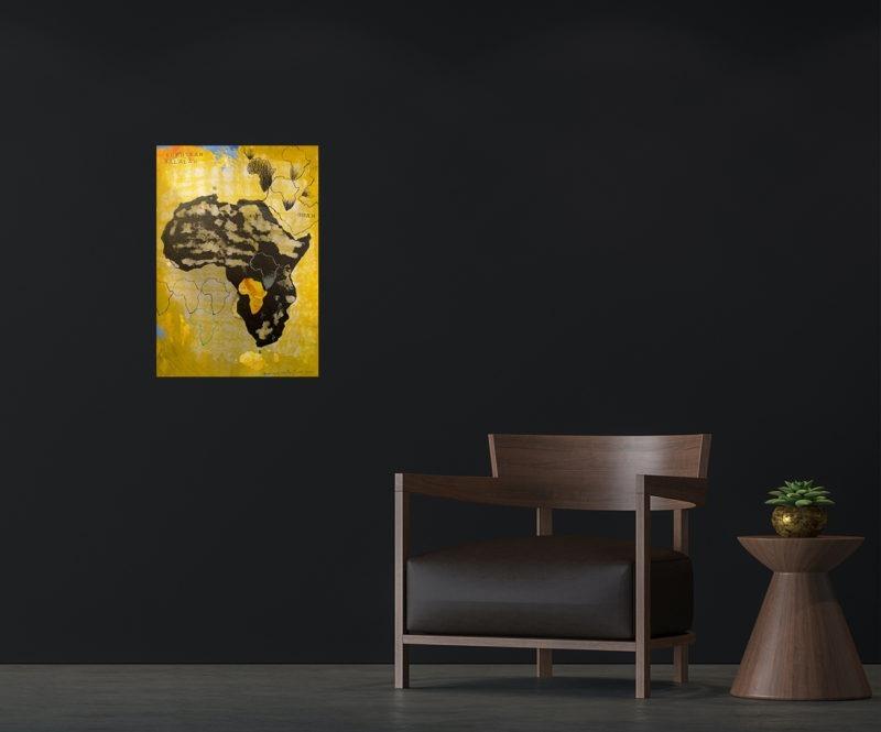 tableau d 'enrique mestre jaime représentant le continent africain
