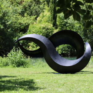 sculpture for garden in metal by francis guerrier on sale in the online shop of gallery 22.