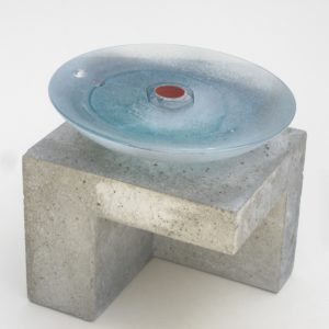 contemporary glass and concrete sculpture by christian von sydow for sale in the gallery's online shop22