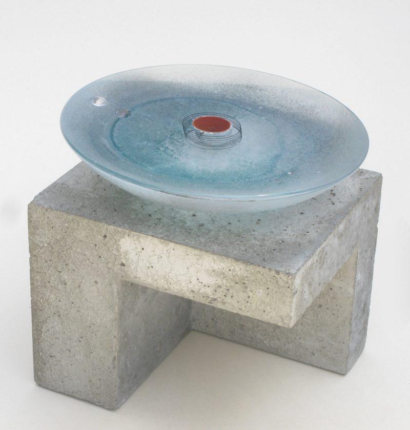 sculpture contemporaine en verre et béton de christian von sydow en vente dans la boutique en ligne de la galerie22
