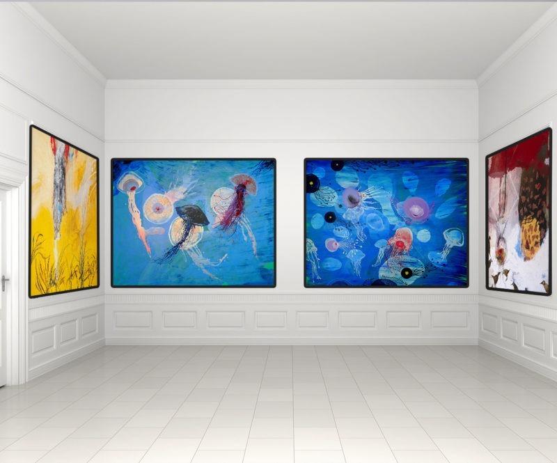 peinture acrylique d enrique mestre jaime en vente dans le store de la galerie22