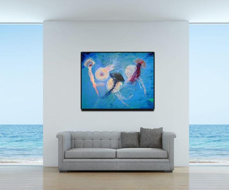 peinture acrylique d enrique mestre jaime en vente dans le store de la galerie22 in situ
