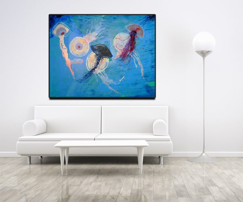 acrylic painting by enrique mestre jaime for sale in the store of the gallery22 in situ