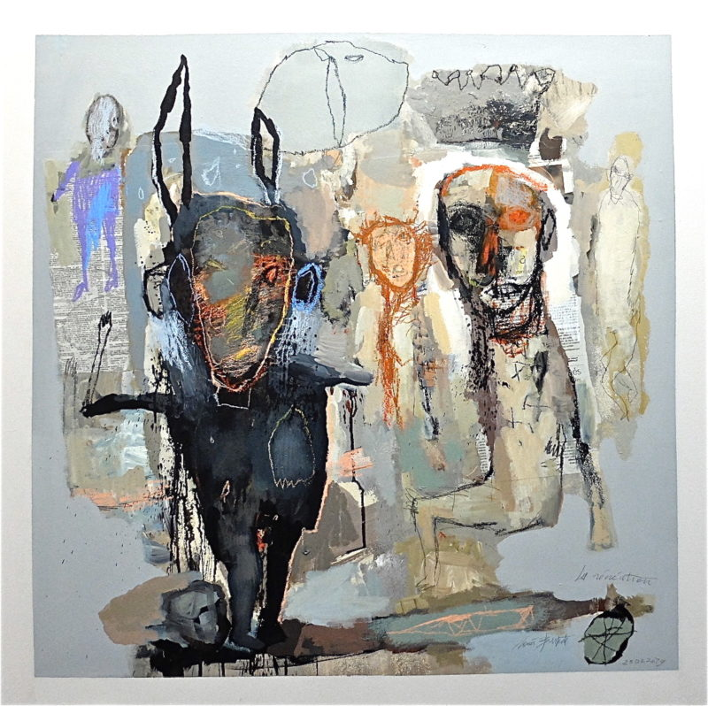 contemporary drawing mixed media of jean louis bessede on sale in the online shop of the gallery 22