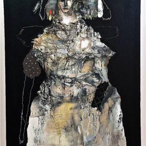l infante blanche est une peinture acrylique de l'artiste peintre jean louis bessede a vendre dans la boutique en ligne de la galerie 22.