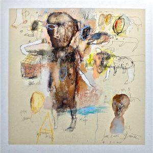 l enfant du nil dessin art contemporain de jean loius bessede en vente dans la boutique en ligne de la galerie 22.