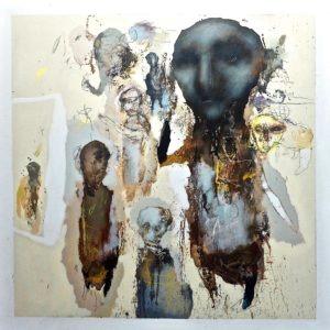 l humanité est une peinture acrylique de jean louis bessede en vente dans la boutique en ligne de la galerie 22
