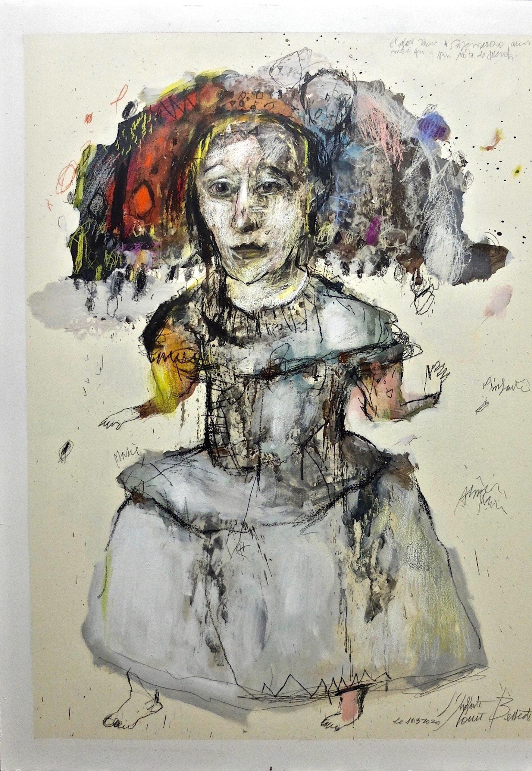 hommage à velasquez est un dessin art contemporain de jean louis bessede en vente dans la boutique en ligne de la galerie 22.