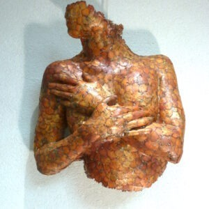 figurative wall sculpture by gilles candelier on sale in the online shop of gallery 22
