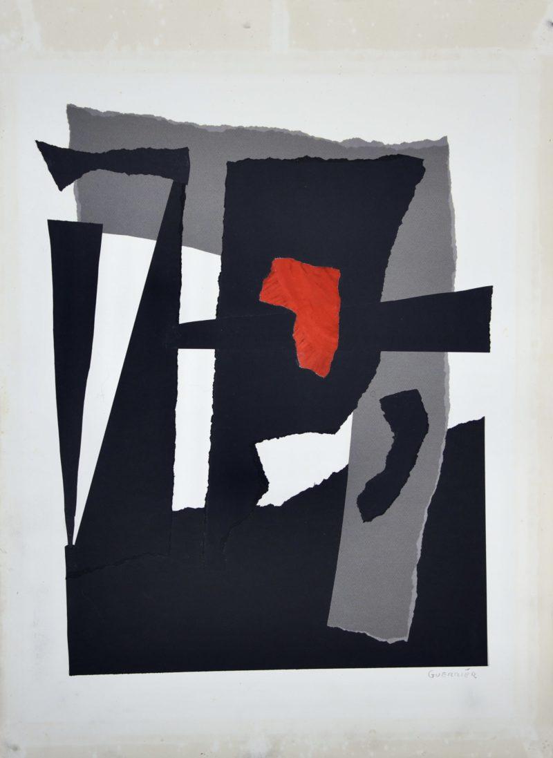 collage contemporain sur papier de raymond guerrier artiste peintre disponible dans la boutique en ligne de la galerie22
