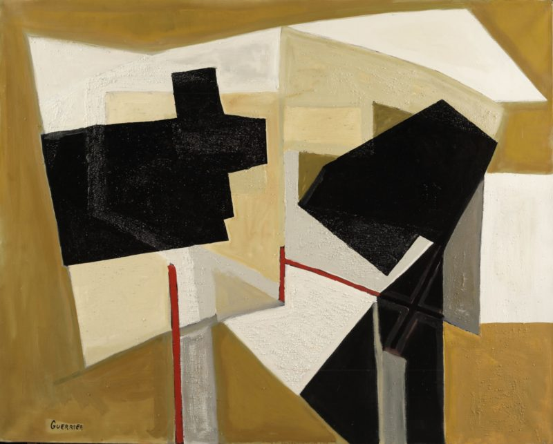 table sun 2 ochre is an oil on canvas by french painter raymond guerrier available in the online gallery of gallery 22.