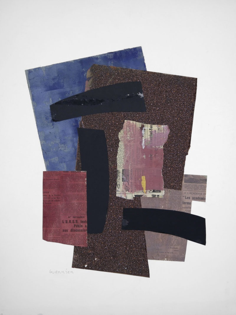 contemporary collage on paper by raymond guerrier painter available in the online shop of the gallery22