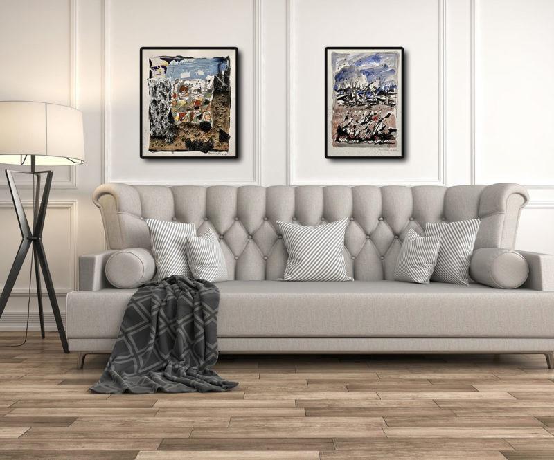 collage sur papier de danielle prijikorski