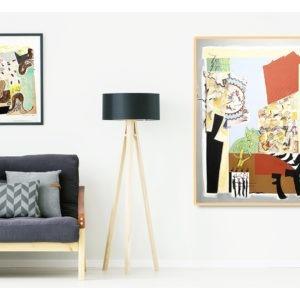 collage on paper by danielle prijikorski