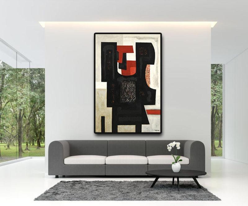 peinture à l'huile sur toile de raymond guerrier en vente dans le store de la galerie22